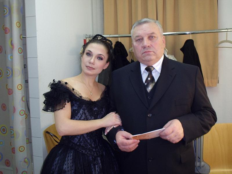 З батьком Миколою Ковальовим