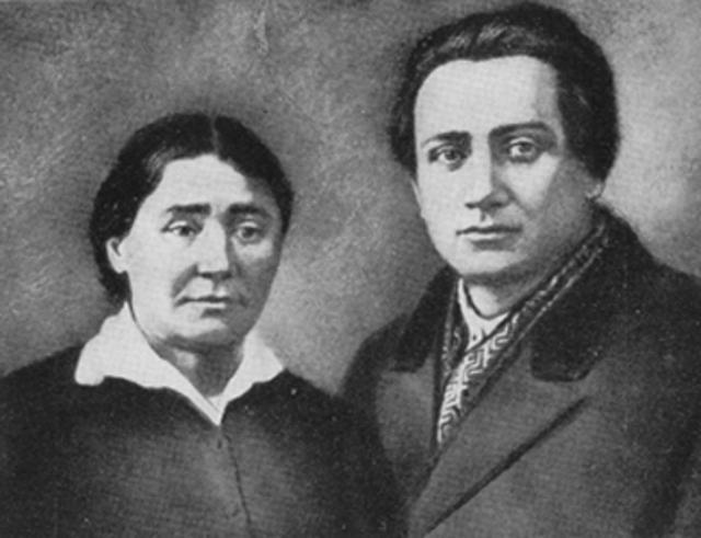 Валер'ян Поліщук із матір'ю. 1928 рік