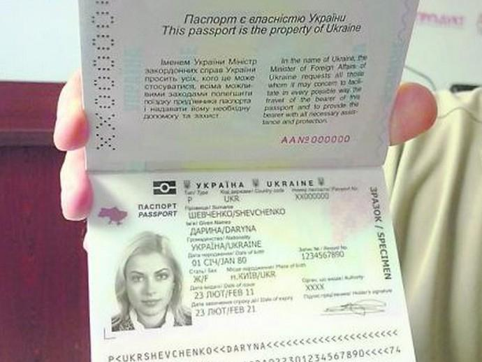 Как выглядим загранпаспорт украины
