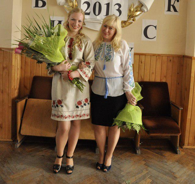 Юлія Добродій з мамою