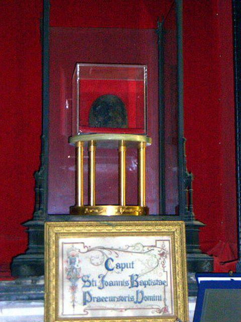 Фрагмент голови Івана Хрестителя у церкві Сан Сільвестро ін Капіте