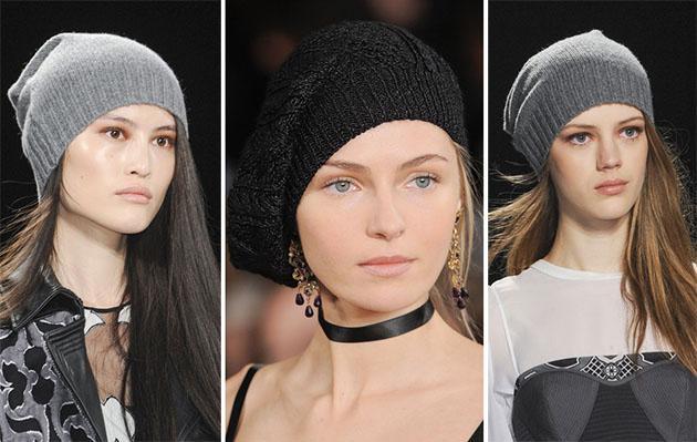 Модні жіночі в'язані шапки 2013