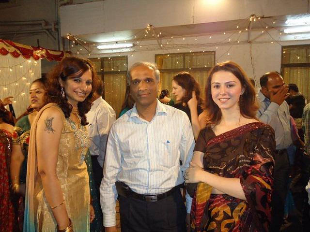 Ірина на весіллі колеги, м.Мумбай, 2011 рік