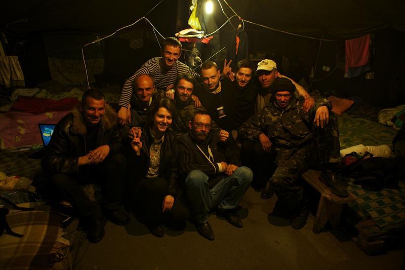 Ірина у Закарпатському наметі на Майдані, Київ, 2014