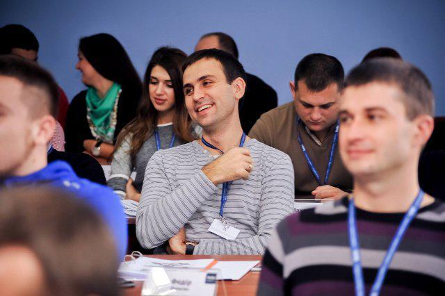 Федір Делеган у процесі навчання під час модулю Михайла Винницького