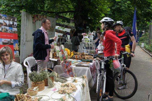 Гості фестивалю цікавились велотуризмом на Рівненщині