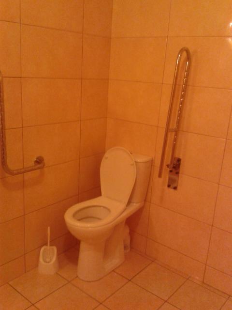 У туалетах є поручні для людей з обмеженими можливостями<br />